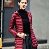 Long Ultra Light Duck Down Jacket Women Winter Warm Windproof Down Coat S-4XL