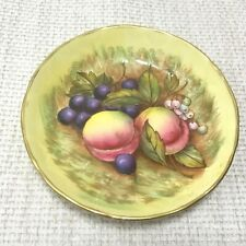Aynsley Orchard Gold Pin Tray Dish Small Plate China Autumn Fruits Flowers