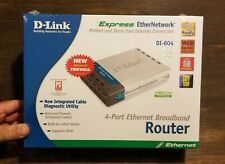 Vintage D-Link DI-604 Router, 4-Port Ethernet Broadband - NEW!