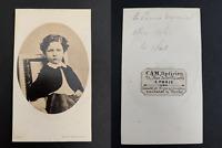 Disdéri, Paris, Le prince Louis-Napoléon CDV vintage albumen print.Napoléon Eu