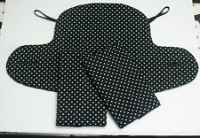 ERGO 360 ADAPT/OMNI BABY CARRIER SUCK/TEETHING PADS & DRIBBLE BIB SET.Polka Dot.
