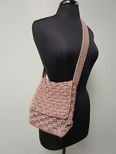 The Sak Crossbody Purse Bag Crochet Knit 1 Strap Zip W/ Flap Brown NICE EUC