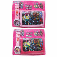 NEW MONSTER HIGH KID CHILD ACCESSORIES WRIST WATCH & WALLET ELECTRONIC GIFT TOY