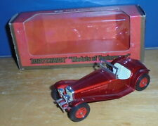 Matchbox Yesteryear Y3 Riley MPH Dark Red with Red 12 Spoke Wheels