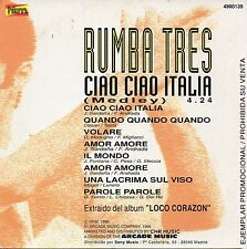 "RUMBA TRES ""CIAO ITALIA MEDLEY"" SPANISH PROMO CD SINGLE / MODUGNO FONTANA  RUMBA"