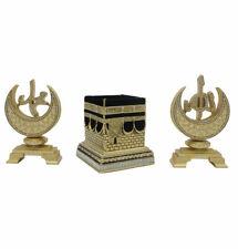 Turkish Islamic Home Table Decor 3 Piece Set Kaba Allah Muhammad Crescent Moon