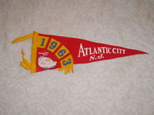 Vintage 1963 Atlantic City Convention Hall Pennant Flag