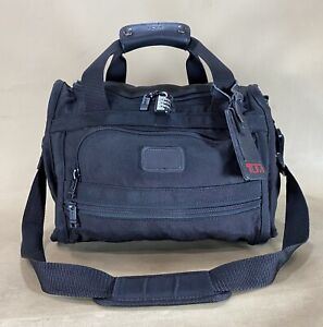 "Vintage Tumi USA Black Ballistic Nylon 15"" Compact CarryOn Tote Gym Bag Toiletry"
