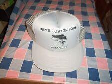 ksm. Hat Cap Den's Custom Rods Midland TX.  Gently Used to Unused
