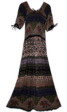 Indian Dress Rayon Retro Ethnic Blusa Vestir Boho Ehs Hippy Vintage Retro Women