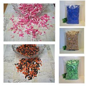 Shredded Confetti 3 ozs Vase Filler, Basket Filler, Table Scatter, Craft Supply