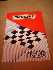 Matchbox Jouet catalogue 1985 UK Edition excellent état