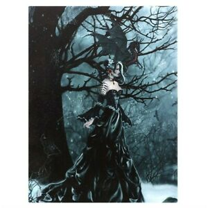 QUEEN OF SHADOWS SMALL CANVAS PICTURE PRINT NENE THOMAS GOTHIC FANTASY DRAGON