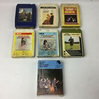 Bundle of 7 8-Track Cartridge Tapes, Job Lot - Mixed 60s,70s, Pop Hits etc Eight