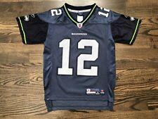 """Vintage Reebok """"FAN"""" #12 Seattle Seahawks Jersey Size Youth Small (8)"""