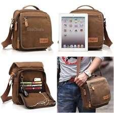 Brown Canvas Messenger Bag Shoulder Crossbody Gear Satchel Multi Pocket Men Gift