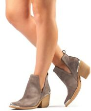 Jeffrey Campbell 'Cromwell' Cutout Western Booties Taupe Suede SZ 10M