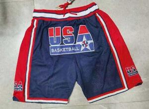 Custom 1992 USA Basketball Shorts With Pocket Sewn Summer Workout Run Party