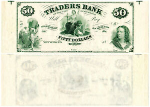 US Virginia Richmond $50 VA195G8 (1860s) Traders Bank **Uncut** UNC