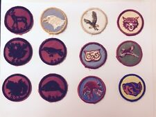 BSA VINTAGE PATROL PATCH LOT OF 12- FREE SHIPPING