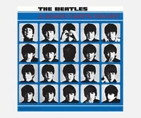 "THE BEATLES POSTER - HARD DAY'S NIGHT ALBUM COVER - 1964 - 40 x 40 cm 16"" x 16"""