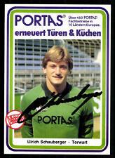 Ulrich Schauberger Autogrammkarte Kickers Offenbach 80er Jahre Orig Sig+ A 71808