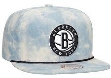 Brooklyn Nets LITE ACID WASH DENIM SNAPBACK Mitchell & Ness NBA Hat
