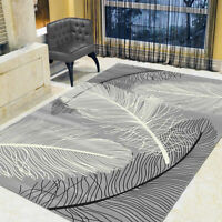 Modern Rugs Area Carpet Crystal Velvet Feathers Contemporary Indoor Floor Mat