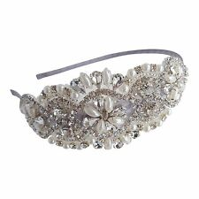 Wedding Headband Bridal Headpieces Vintage Bridesmaids Ivory Pearl Crystal H206