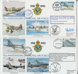 BAHAMAS/BERMUDA 1993 75th ANNIVE of the ROYAL AIR FORCE official illust covers