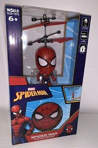NEW! Spider-Man Flying Character Head UFO Helicopter - Marvel