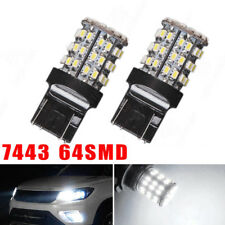 2pcs T20 7440 7443 64 SMD White 6000K Reverse Brake Tail 12V LED Bulb Light
