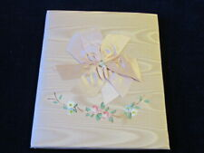 Vintage Unused Baby Girl Book Moire Taffeta with Sweet Pastel Illustrations S94