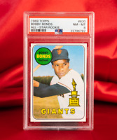 PSA 8 1969 Topps Bobby Bonds RC Giants Father of Barry Bonds