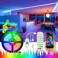 5050 LED Strip Lights 32.8FT Music Sync RGB Room Lights Bluetooth APP Remote US