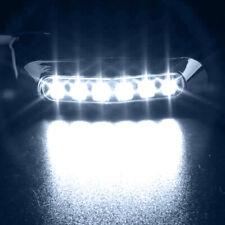 Waterproof 6 LED Chrome Front Side Marker Indicator Lights Truck Trailer Van 12V