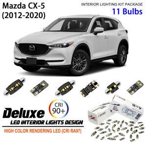11 Bulbs Interior LED Light Kit White Dome Light for 2012-2020 Mazda CX5 CX-5