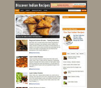 INDIAN RECIPES WEBSITE & BLOG WITH AFFILIATES AND NEW DOMAIN + HOSTING