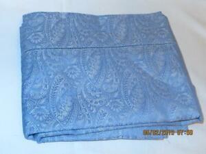 Sferra Andretta Standard Sham Dusk Blue Egyptian Cotton Percale New