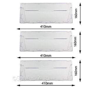 Plastic Drawer Panel Flap Front for Indesit CA55 CAA55 Fridge Freezer x 3