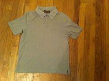 Vintage men's size small Tasso Ella golf/polo shirt Grayish Green silk/cotton