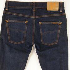 Mens Nudie GRIM TIM Stretch Slim Skinny Blue Jeans W31 L30