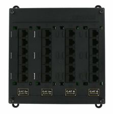 Leviton 476Tm-654 Twist and Mount Patch Panel, 12 Cat 5e ports and 12 Cat 6 port