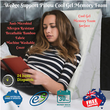 Pillow Wedge Support Washable Cover Memory Foam Bamboo  Cool Gel Breath Fabric