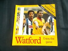 Football Programme Watford vs Manchester United December 4th 1982 Division One