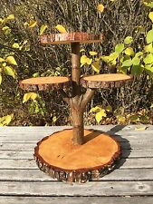 Pine Log Wood Rustic Cake Pie 40 Cupcake Stand Wedding party shower 4 tiered