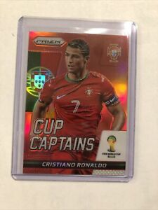 2014 Panini Prizm World Cup Cup Captains Red CRISTIANO RONALDO #5 Portugal #/149