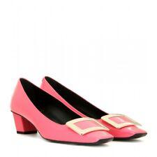 Roger Vivier Pink Décolleté Belle Patent Leather Pumps Size 37 US 7