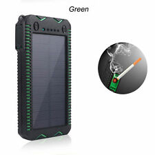100000mAh Solar Power Bank Cigarette External Battery Charger For  Cell Phone