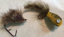 Vintage Fishing Flies X2  Mouse And Locust?